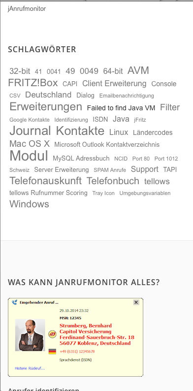 Re-launch www.janrufmonitor.de